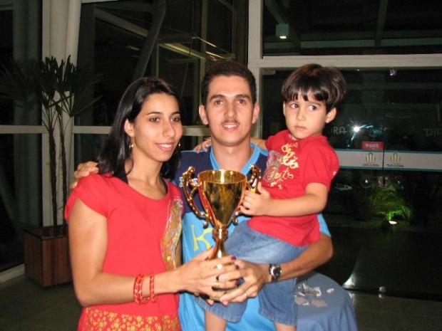 O Campeão Diogo e a família