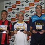 Marcellus (Vice campeão) - Armandinho (Campeão) - Éder (3º Colocado)