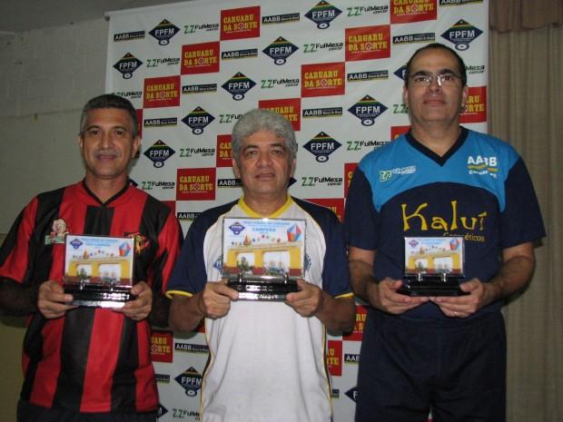 Marcellus (Sport Recife) - Armandinho (AABB Recife) - Éder (AABB Caruaru)