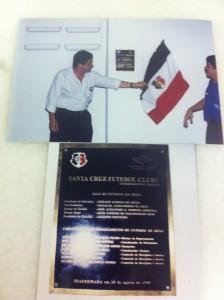 Inauguração sala de Futebol de Mesa do Santa Cruz